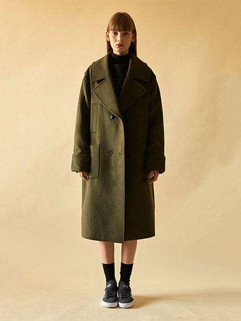 16 WINTER LOCLE TRENCH COAT - OLIVE