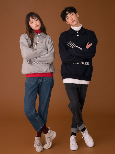 (UNISEX)CE MENU PANTS_BL