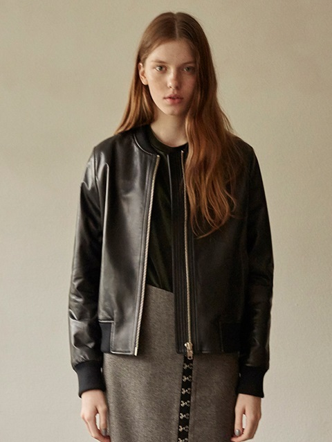 16 FALL LOCLE LEATHER BLOUSON