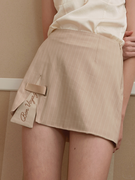 SLIT POINT SKIRT_BEIGE