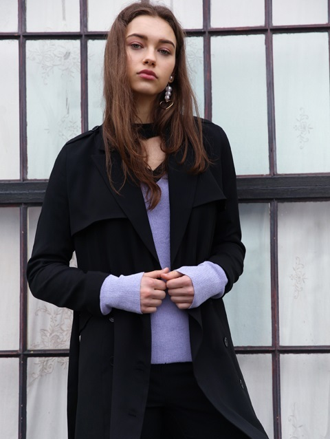 Slim Trench_black