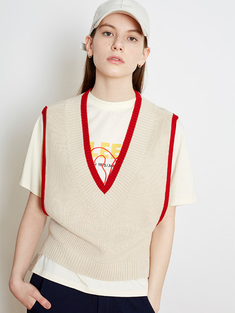 17 SPRING LOCLE KNIT VEST