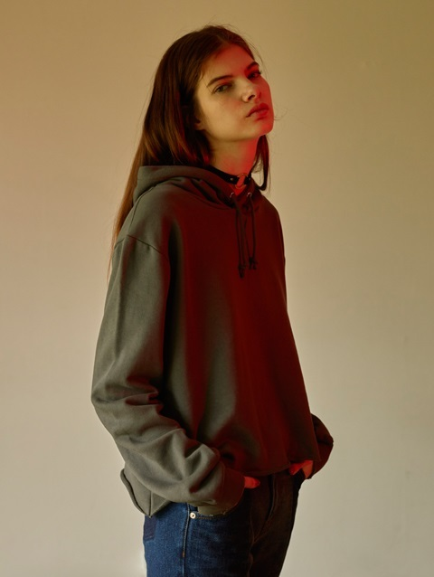 A line Hoodie RTT028 (Charcoal Gray)
