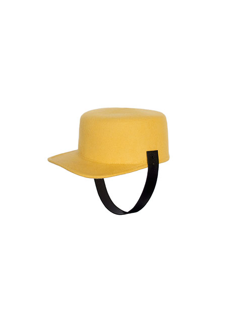 [AWESOME NEEDS] LAMBS WOOL HORSE RIDING CAP(MUSTARD)