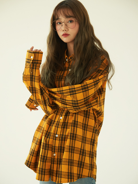 Overfit Tartan Check Shirt (4color)(unisex)