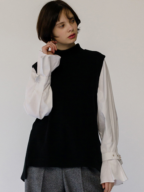 monts564 layering shirts(black)