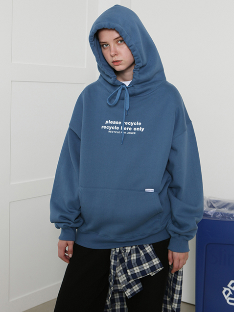 Please recycle hoodie-dark blue