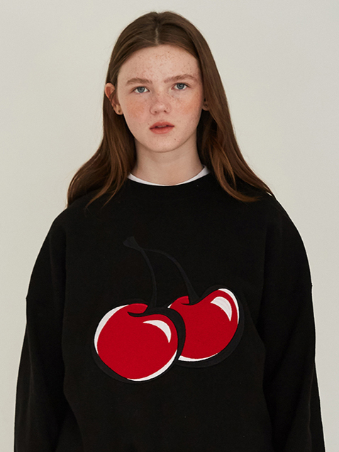 BIG CHERRY SWEATSHIRTS HS [BLACK]