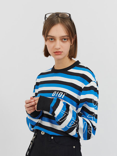 ORIGINAL LONG SLEEVE T-SHIRTS_blue stripe
