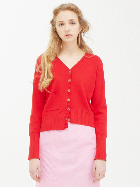 Unbalance Cardigan / Red