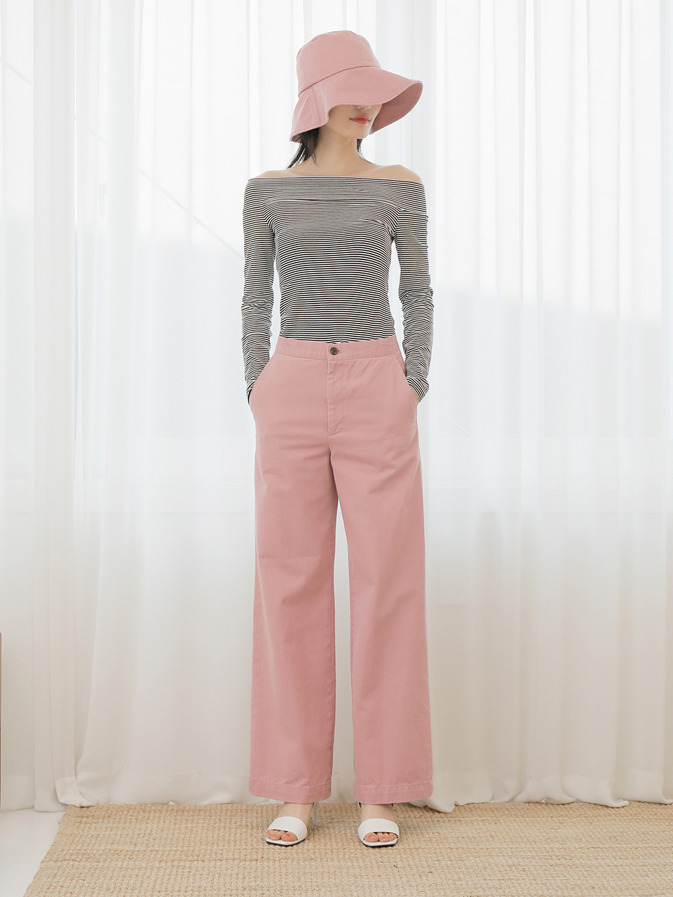 18SS BELL BOTTOM PANTS_PINK