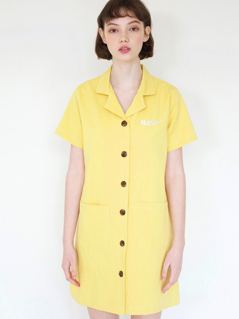 UP LOGO SHIRTS ONEPIECE / YELLOW