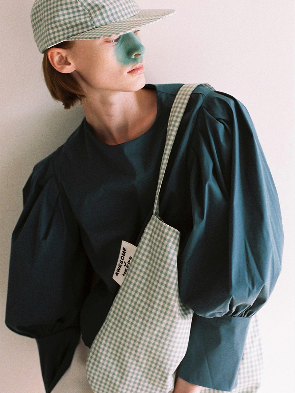SECOND ECO BAG_CHECK MINT