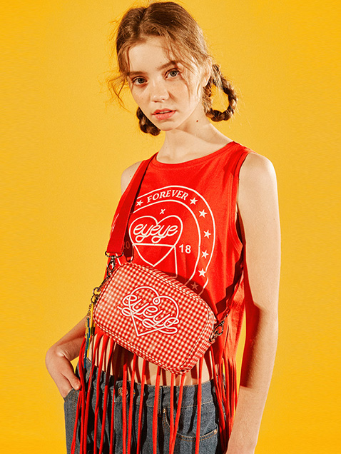 STAMP PRINT SLEEVELESS T SHIRT_RED (EEOG2SVR01W)