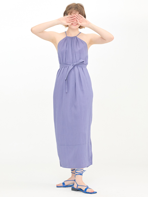 Wide Halter Dress / Greyish