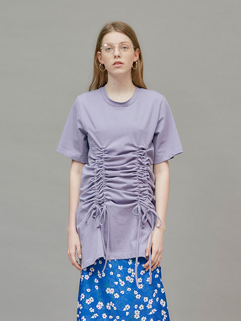 18 SUMMER LOCLE SHIRRING DRESS - LIGHT PURPLE