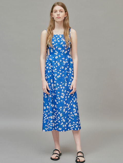 18 SUMMER LOCLE STRAP DRESS - FLOWER PRINT