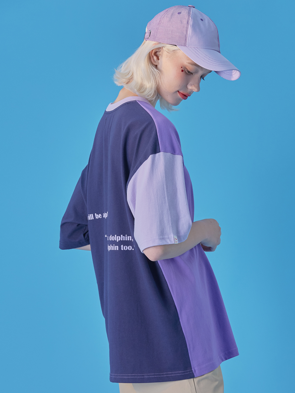 WaiKei Hot Summer Color Block T-shirts_Purple