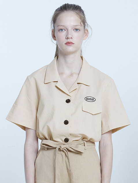 MG8S POCKET POINT SHIRT (BEIGE)